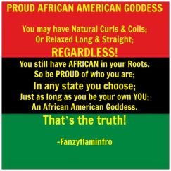 Proud African American Goddess