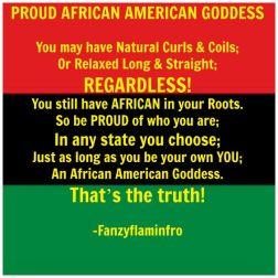 Proud African American Goddess