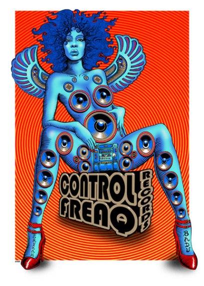Erykah Badu, Control Freaq CD cover.