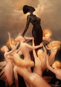 Hieraconism 3 by Gerwell. Image of a Black mermaid.