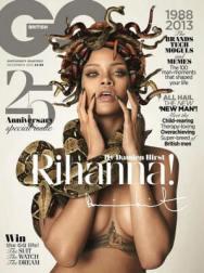 Rihanna as Medusa, Cover Image of British GQ 2013