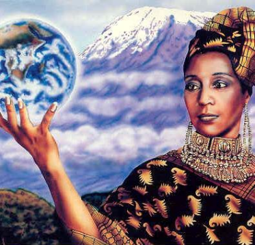 Mawu – Mother Earth from the Goddess Guidance Oracle Cards by Doreen Virtue