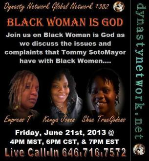 Meme. Black Woman is God event. 2013