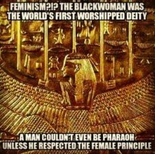 Meme. Black Woman is God.