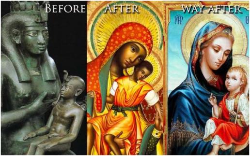 Meme Critique. Image of Black Madonna