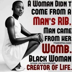 Meme. Black Woman is the Creator of Life