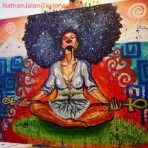 Cosmic Black Woman Mural