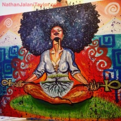 Cosmic Black Woman Mural