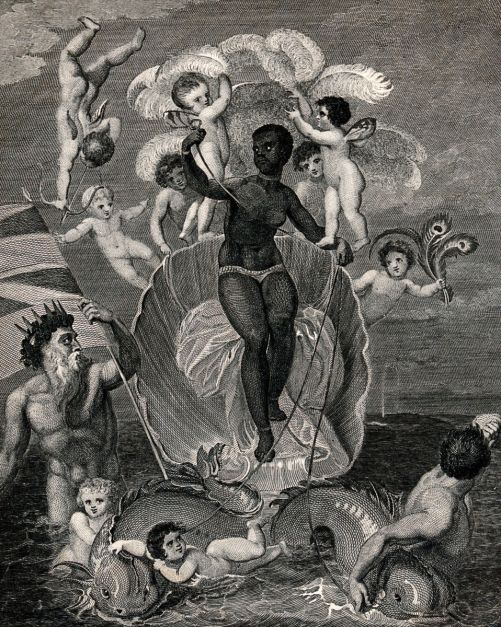 Voyage of the Sable Venus, rom Angola to the West Indies. Artwork by T. Stothard. 1818.