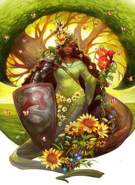 Black Goddess - Fantasy art