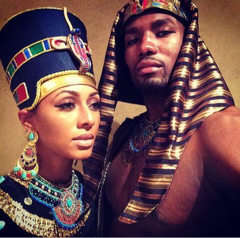 Keri Hilson as Queen Nefertiti and Serge Ibaka as Pharaoh Akhenaten, 2014