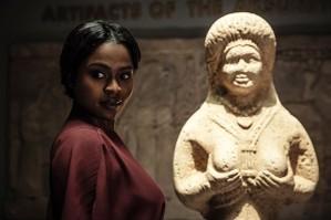 American Gods Queen of Sheba (Bilquis, Goddess of Love) Season 1 2017. Portrayed by actress Yetide Badaki.