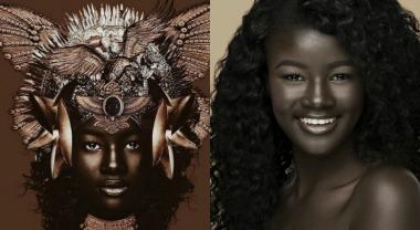 Senegalese model Khoudia Diop