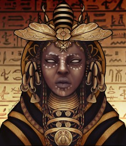 Bee Goddess - Digital Art by Logan Kehoe