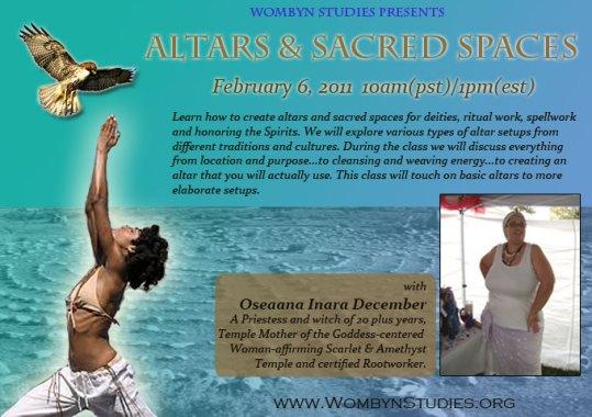 Oseanna - Altars and Sacred Spaces workshop